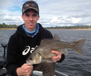 Lane Ferling nabbed a 51 cm Boondooma bass.