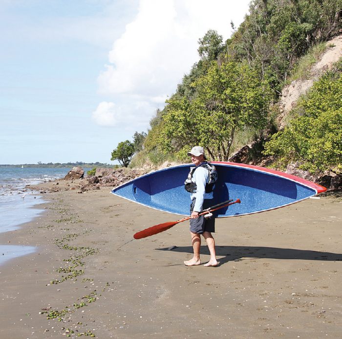 The light weight of the Scamper means you can get to a variety of locations. One man, one paddle, one canoe.