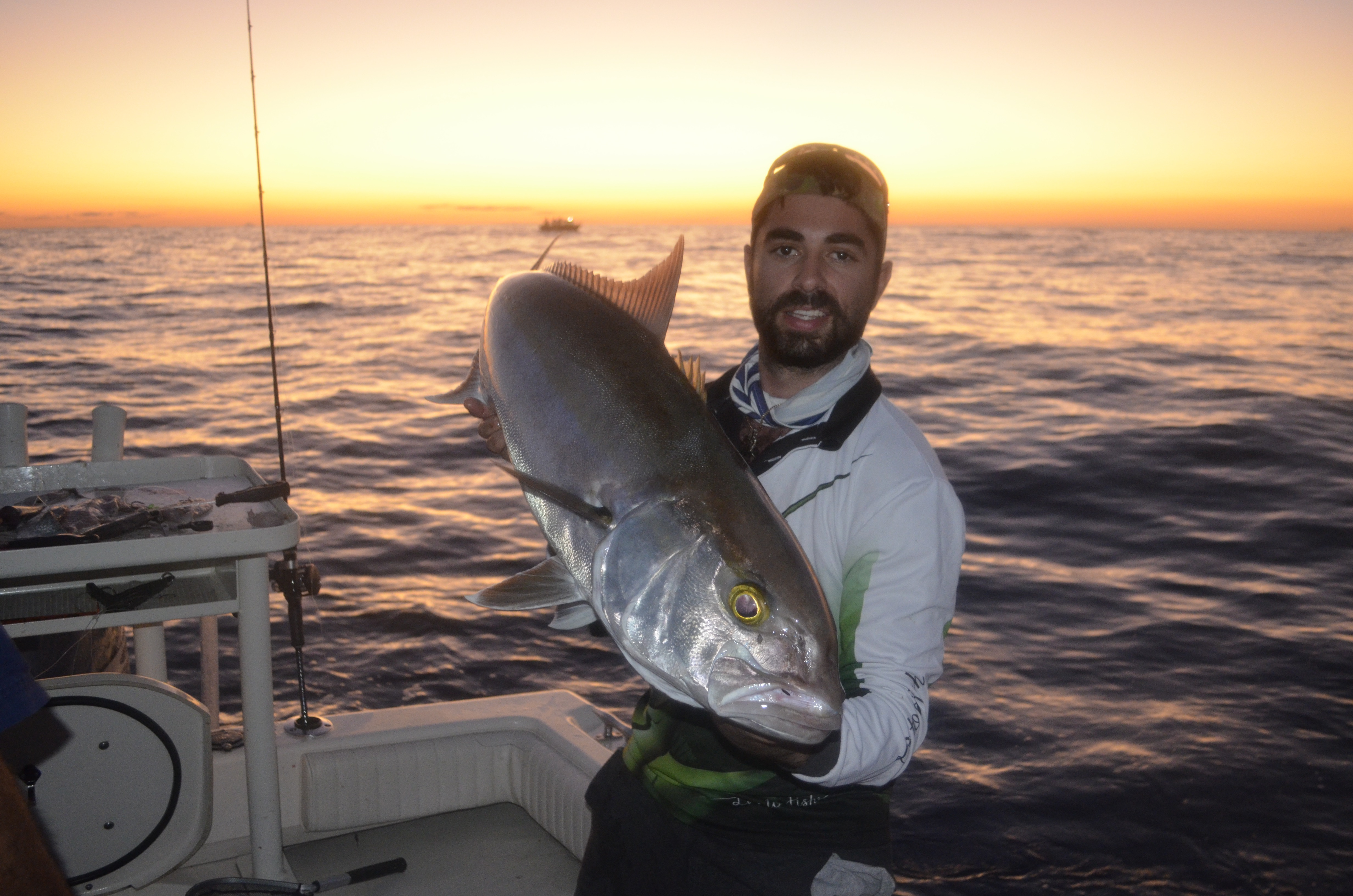 This 15kg amberjack landed by Peter was by-catch while chasing snapper.