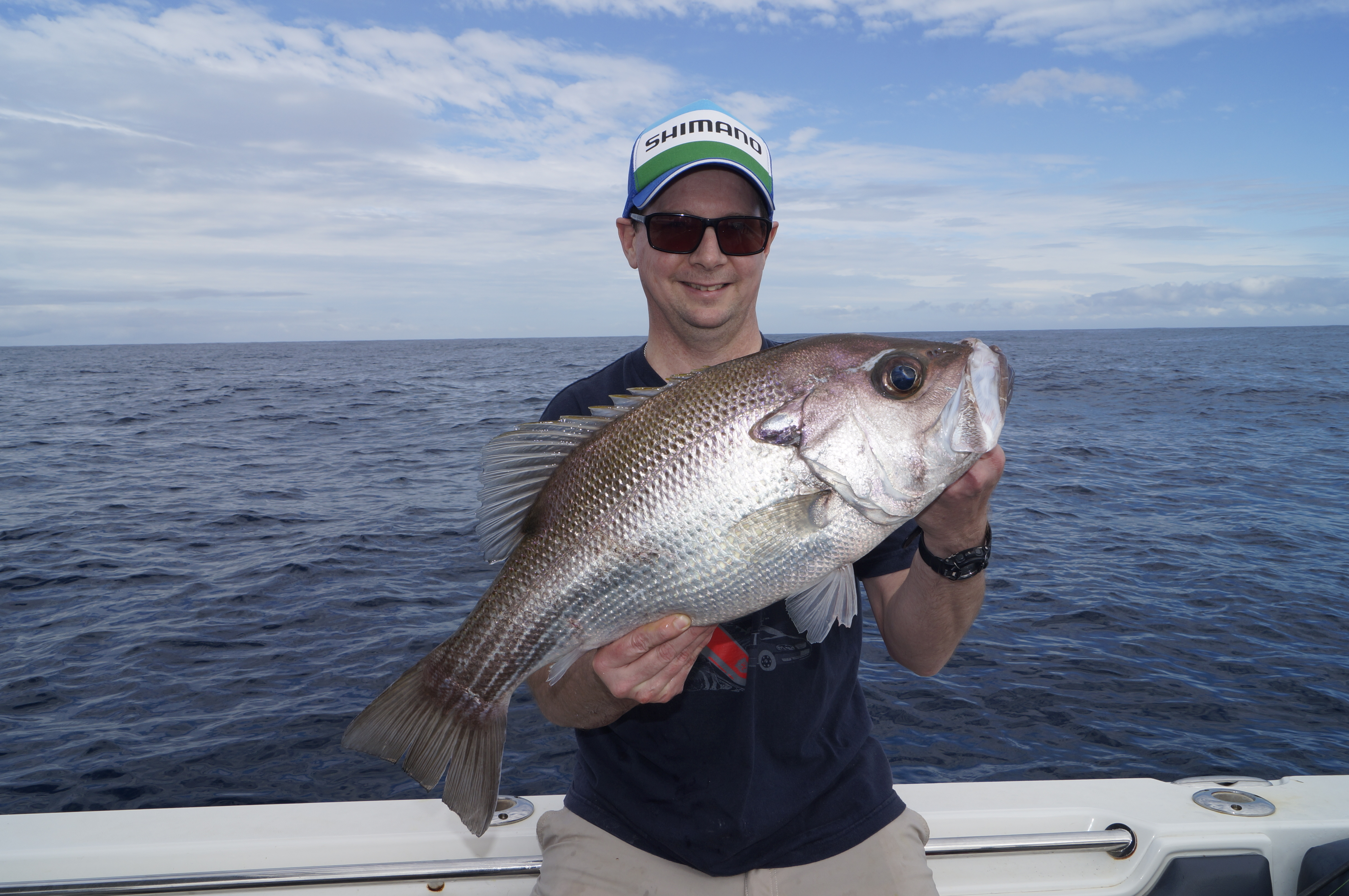 Scott Essery dug deep to land this 62cm pearl perch.