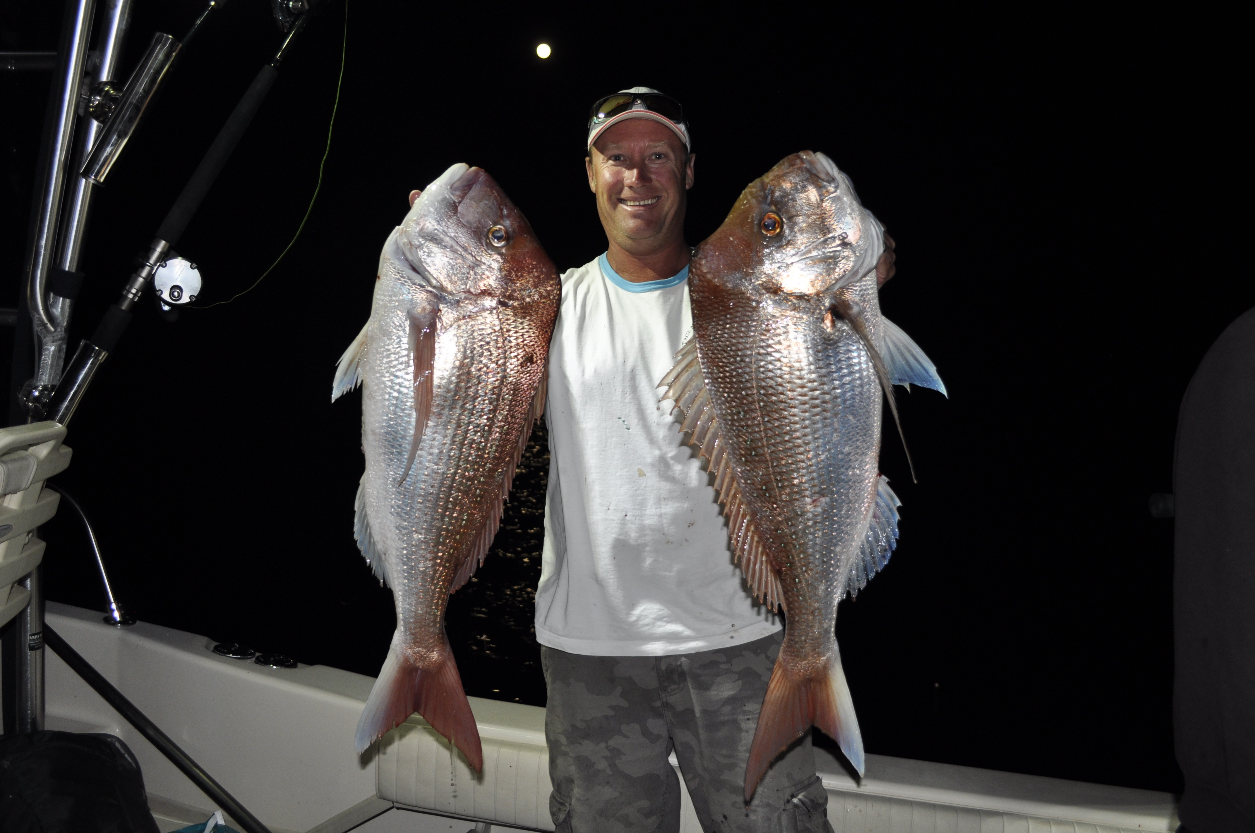 A couple of snapper taken by Jason on the author's last trip out to the Barwon Banks on the full moon.