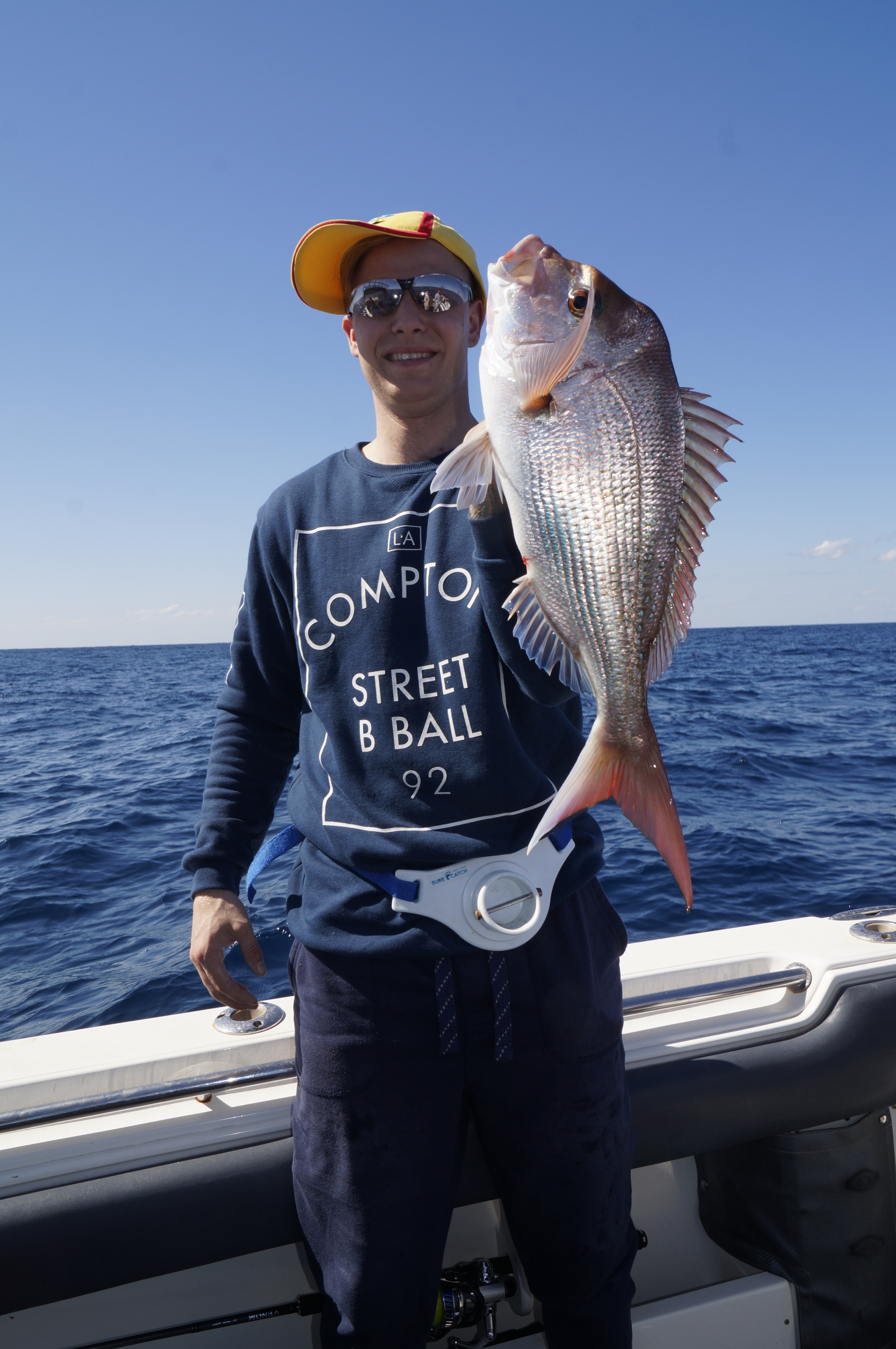 Jeremy Vogrin played the patience game while live baiting and scored this top snapper.