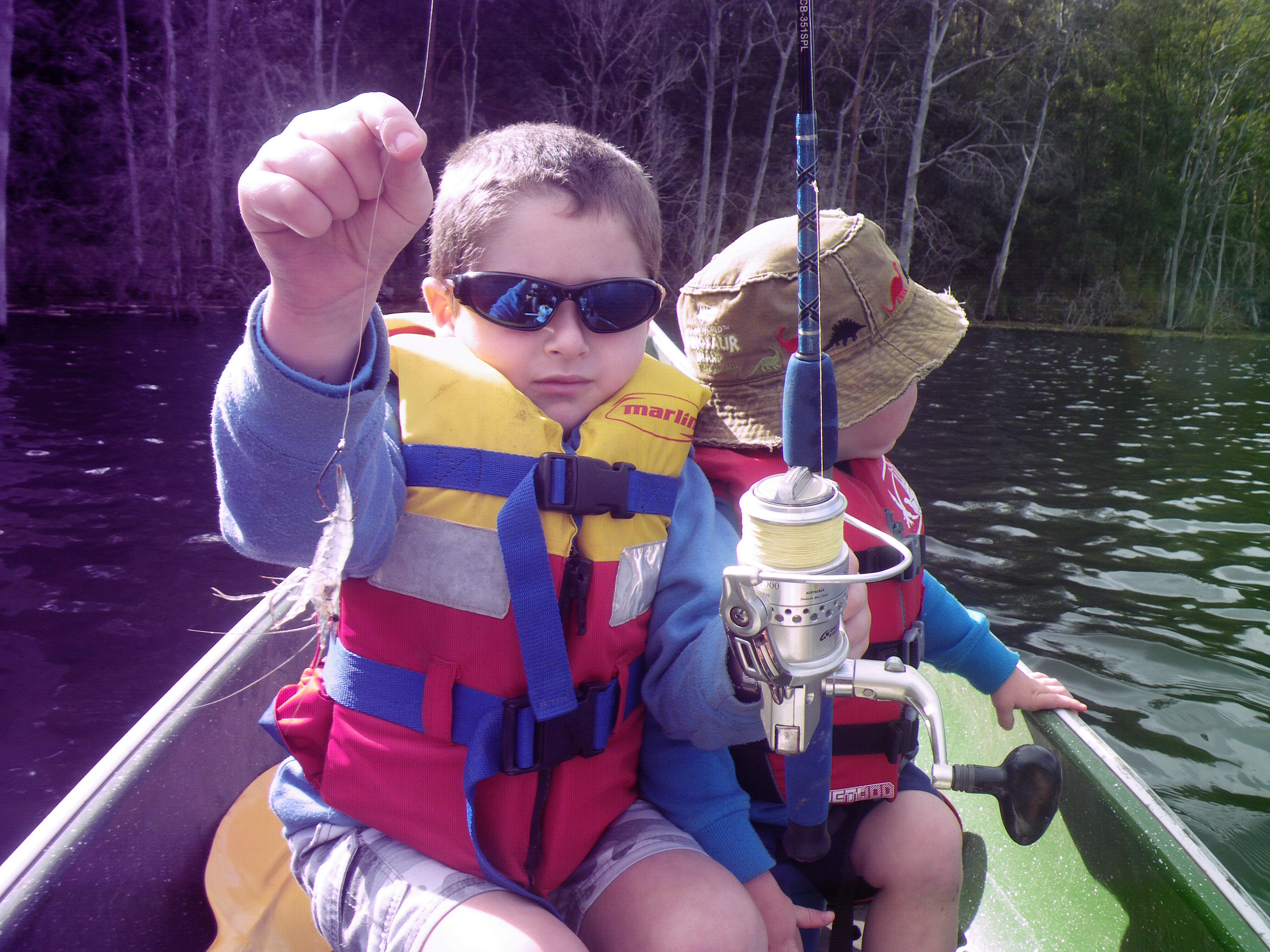 Live bait presented on an unweighted hook is child's play.