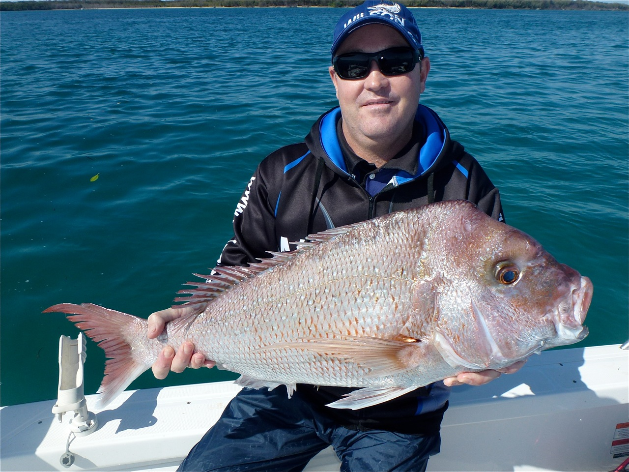 Plenty of quality 80cm-plus snapper have been hooked off the Seaway of late, such as this one taken by Brett.