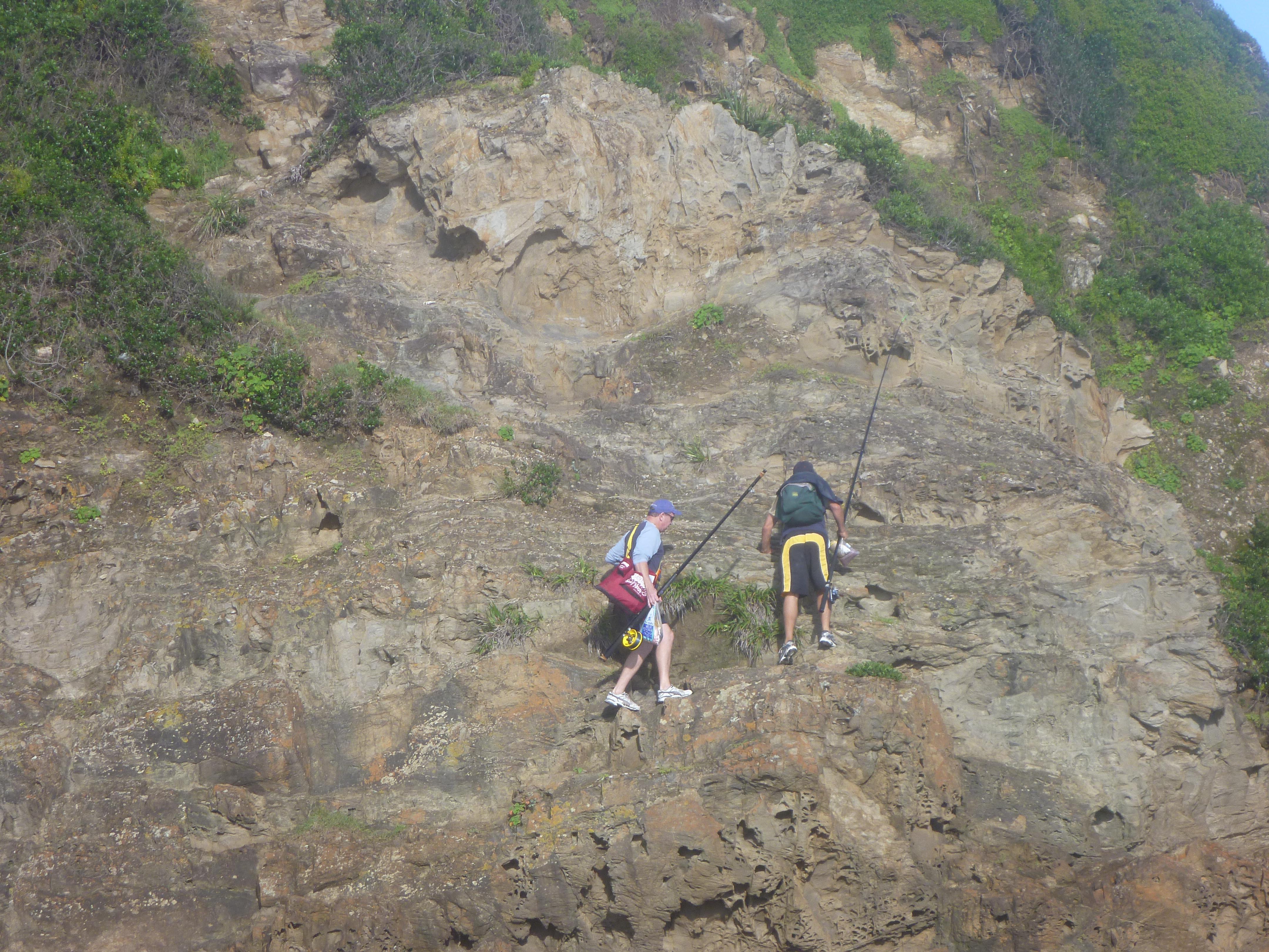 Great rock fishing spots can be mountain goat territory.