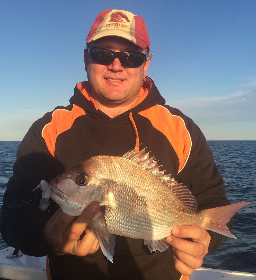 This pan size fish was caught on Just Jiggin Superminnow.