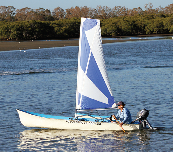 The Bass Catcher is a very versatile craft and can even be used under sail.
