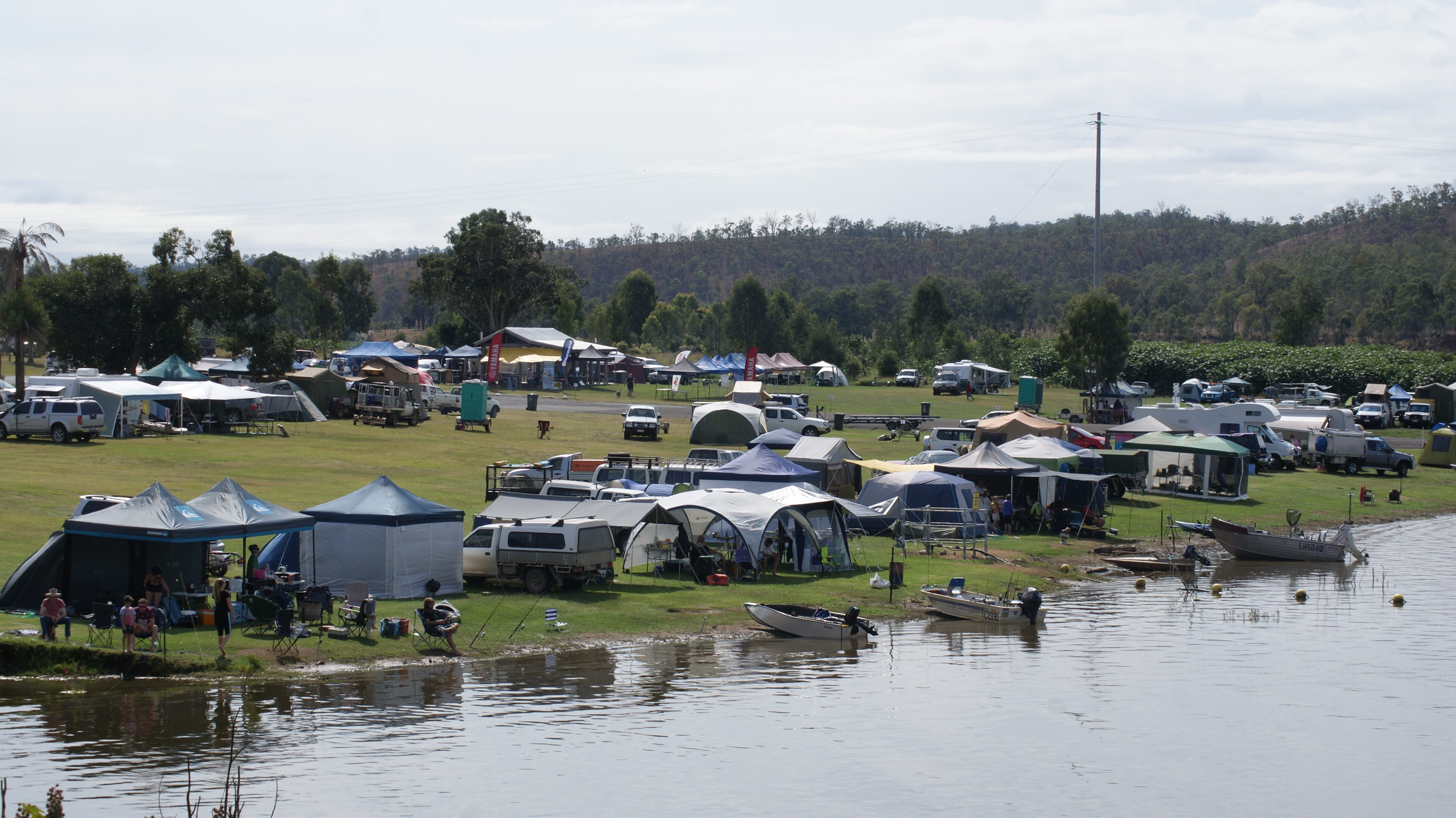 Mingo Crossing was a popular camping spot over the weekend.