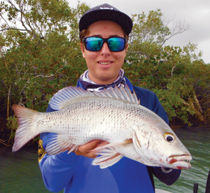 This feisty mangrove jack fell victim to Matt's soft plastic.