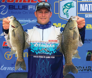 Matthew Langford won the tournament and the AOY title in the Co-Angler division at Glenbawn.
