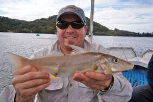 Catching your first whiting on a lure is bound to put a smile on your face.