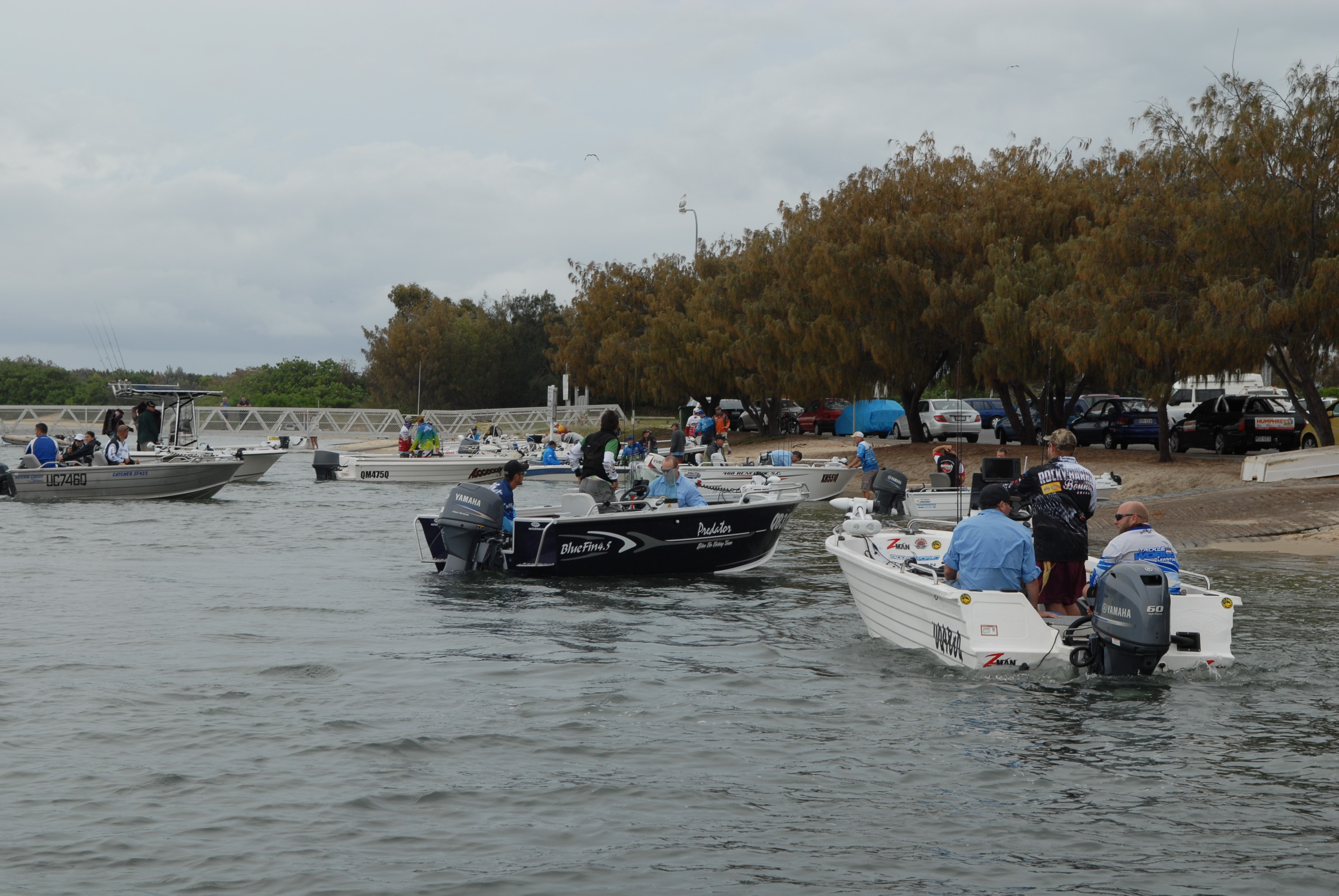 Some of the starters at the recent Gold Coast Sportfishing Club Dash for Cash event.