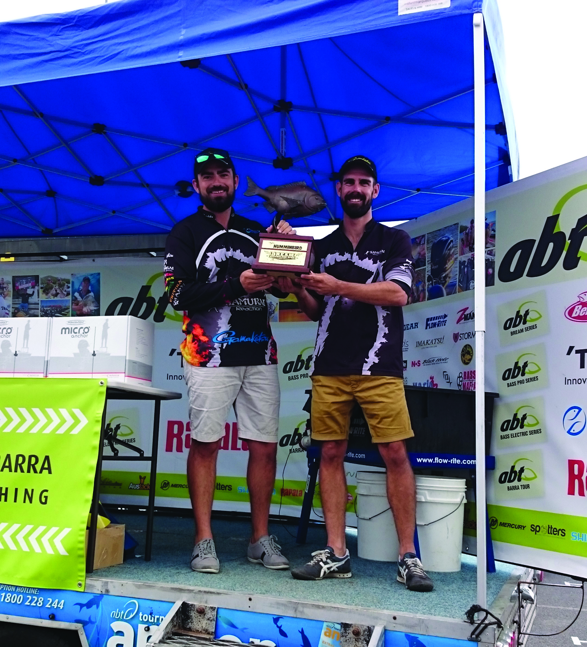 Queensland Bream Open winners for 2015 Tristan Taylor and Dave 'hypothetically' McKenzie.