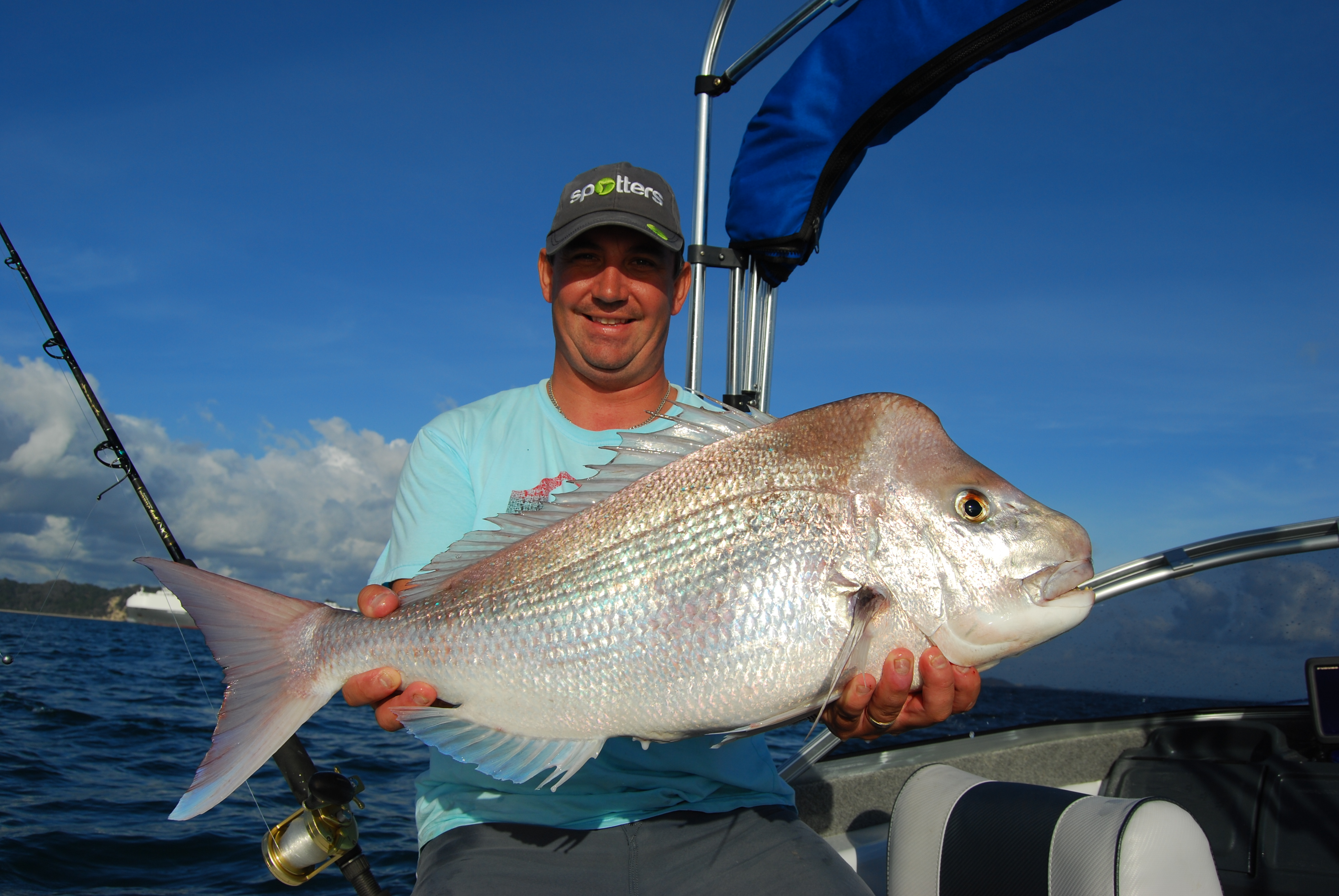 Jo Mulders with a ripper Moreton Bay snapper.