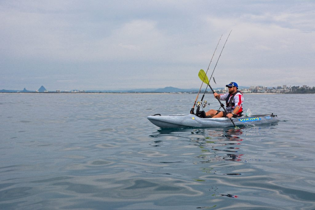 The Viking Profish GT tracked beautifully through the water as the author paddled out from Kings Beach.