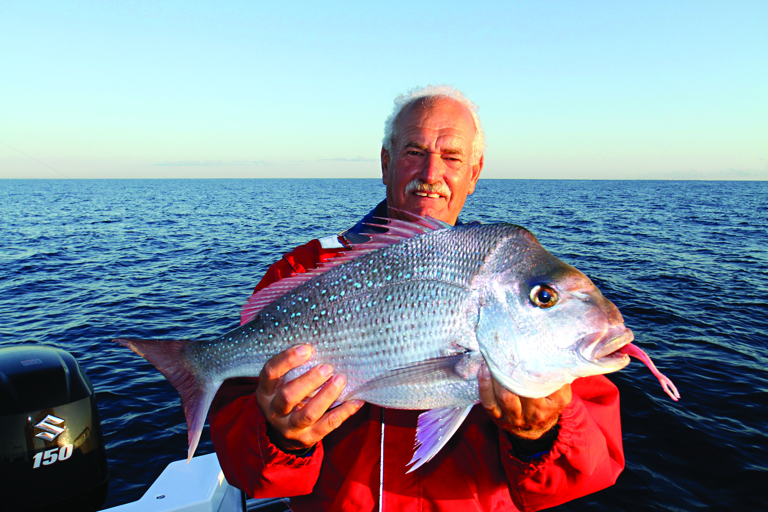 the first snapper caught by Frank Oostenbroek in the new boat.