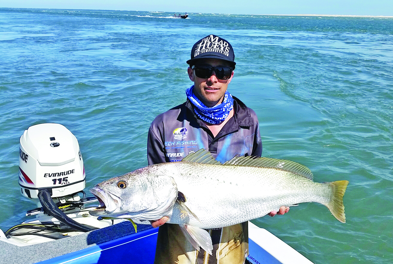 Brenden Whyte caught 103cm of jewfish by-catch on day one.