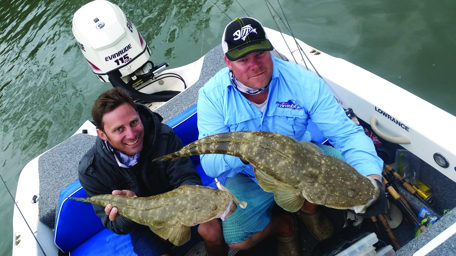 Brenden Whyte and the author boated two cracker flathead.