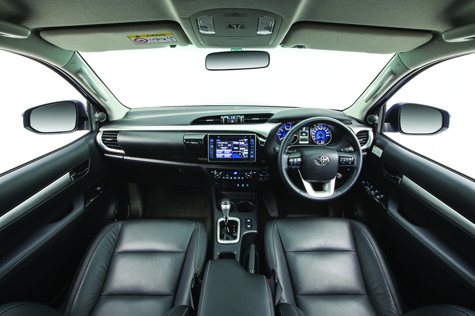 The interior is not only modern, it is jam packed with features.