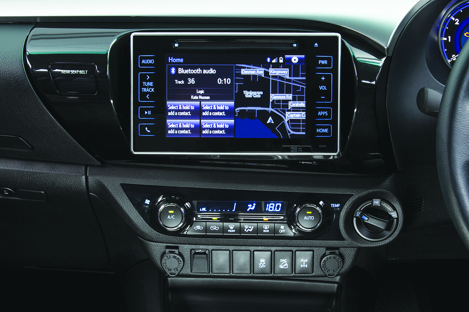 The large touchscreen display features everything you need.