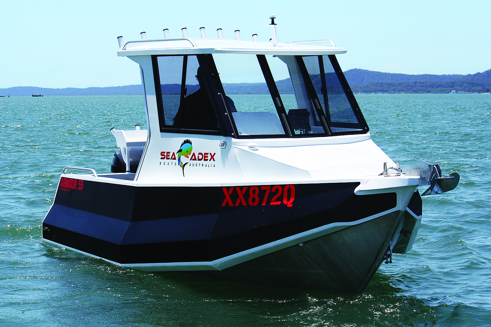 The Sea Adex Armour 55 cuts a mean figure on the water.