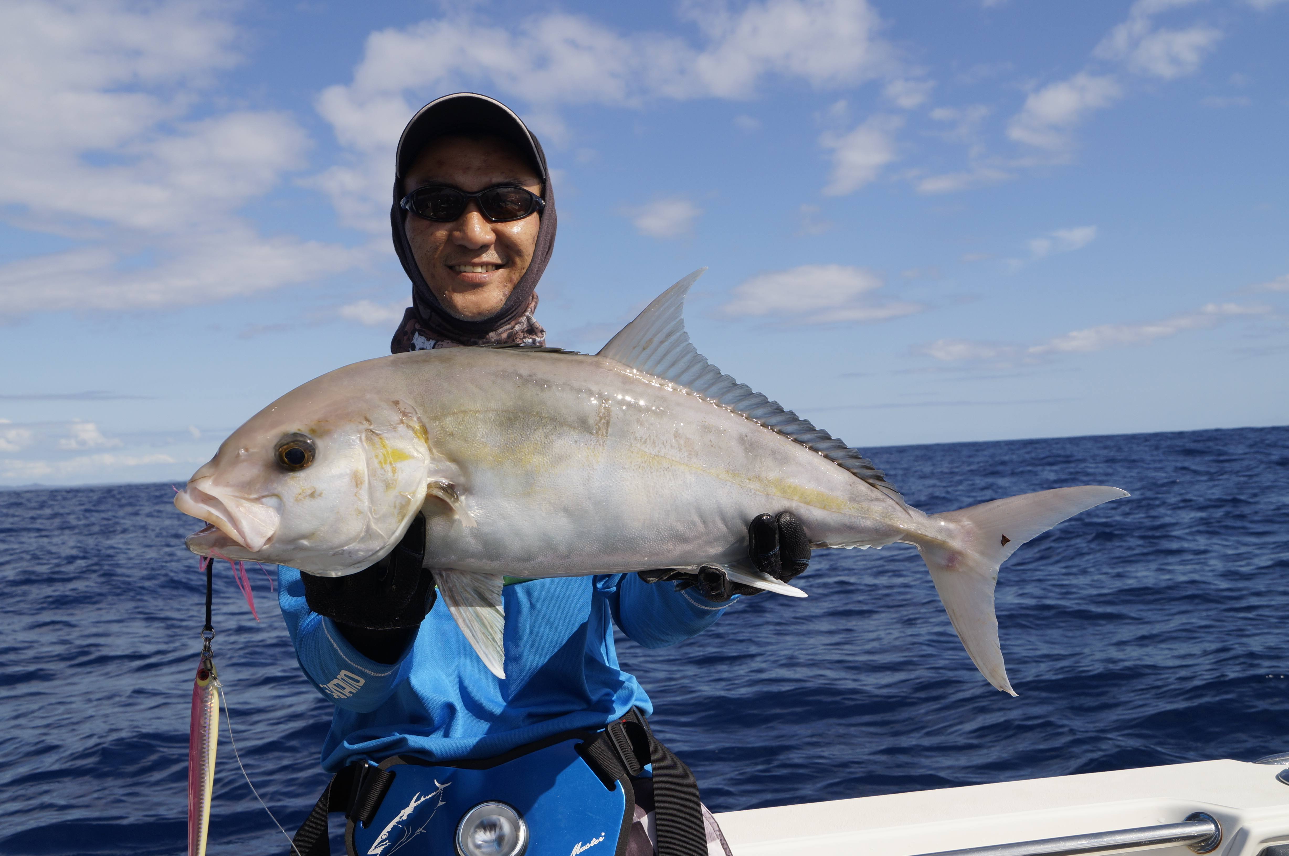 Alston Yap with an ambo taken during a hot jigging session.