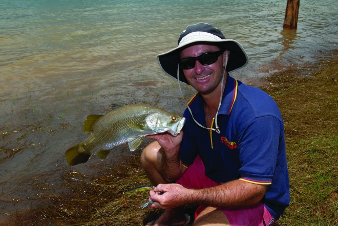 Barramundi catches can be good from the bank, even in the dams.