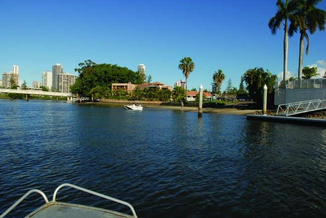 You can access many fishing spots near boat ramps such as this one in the Nerang River.