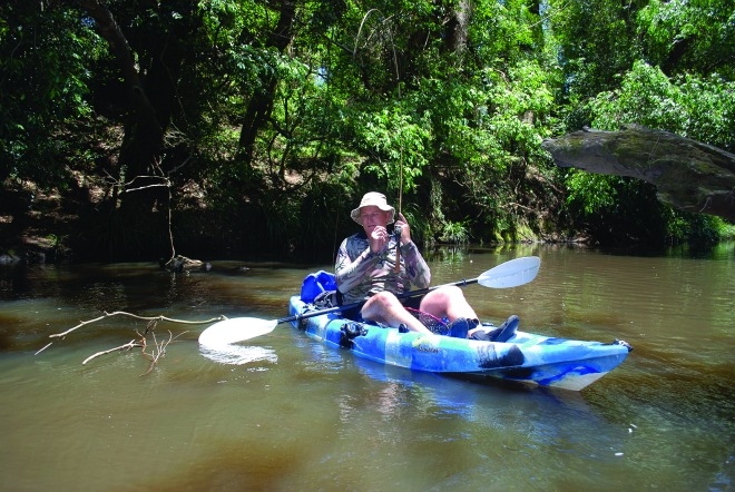 Avoid high sticking graphite rods; choose a shorter rod for creek fishing.