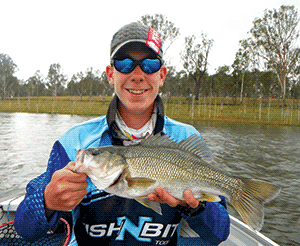 Nicholas Newton was stoked with his bass capture..