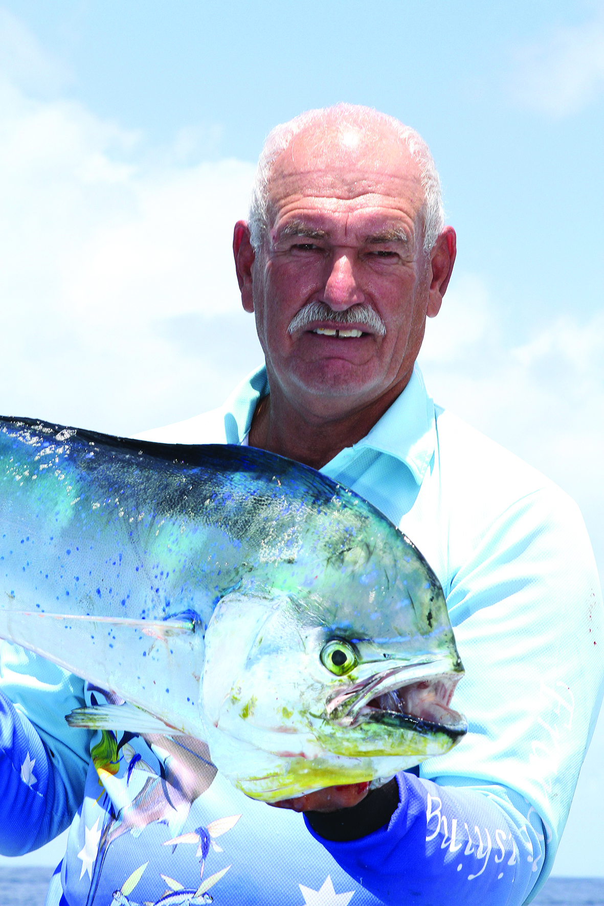 Frank Oostenbroek caught this dolphin fish while out with Tammy.