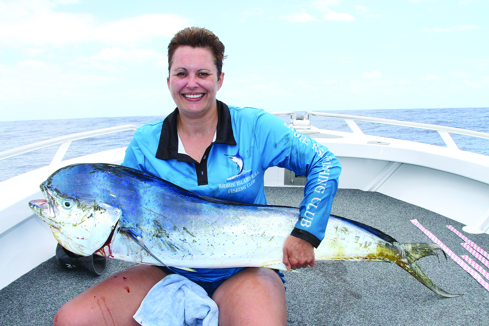 One of the many dolphin fish caught by Tammy Oostenbroek.