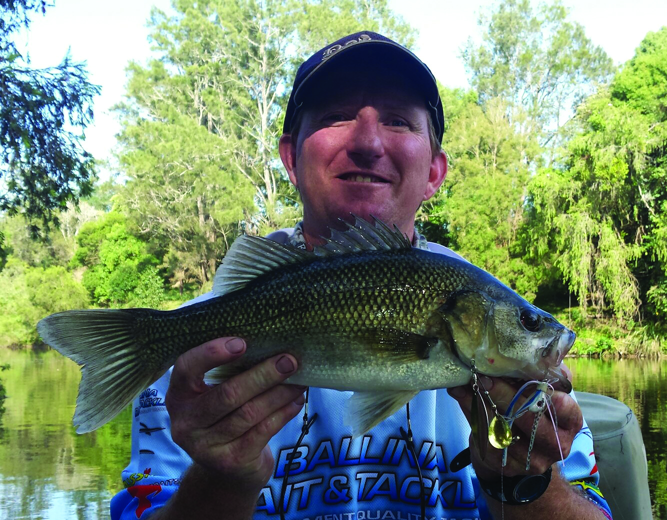 Another: This bass fell for a spinnerbait.