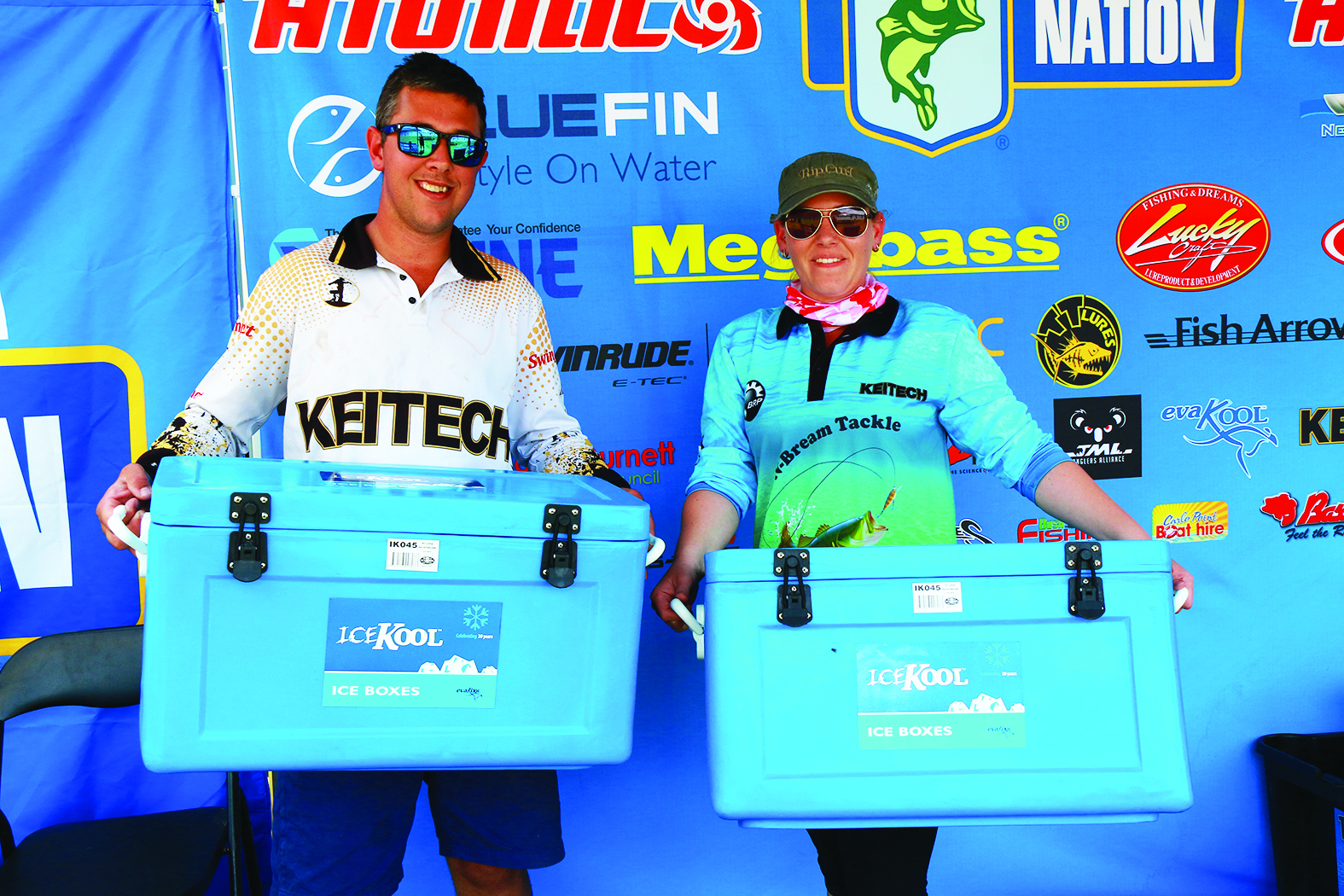 Husband and wife team Mark and Shay Ferguson took home a stack of prizes in the teams event.