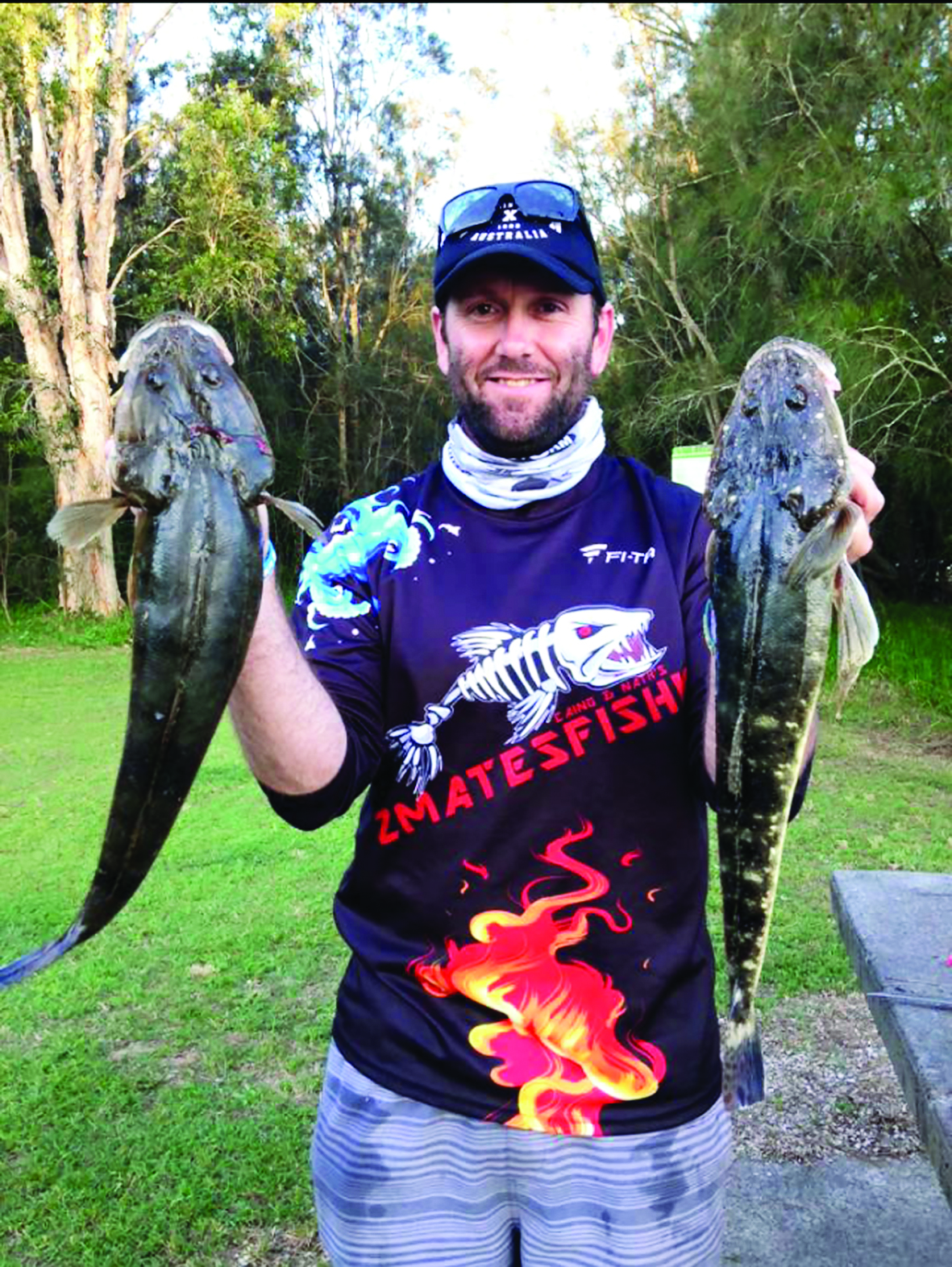 Ryan Myres with a couple of cracker flathead.