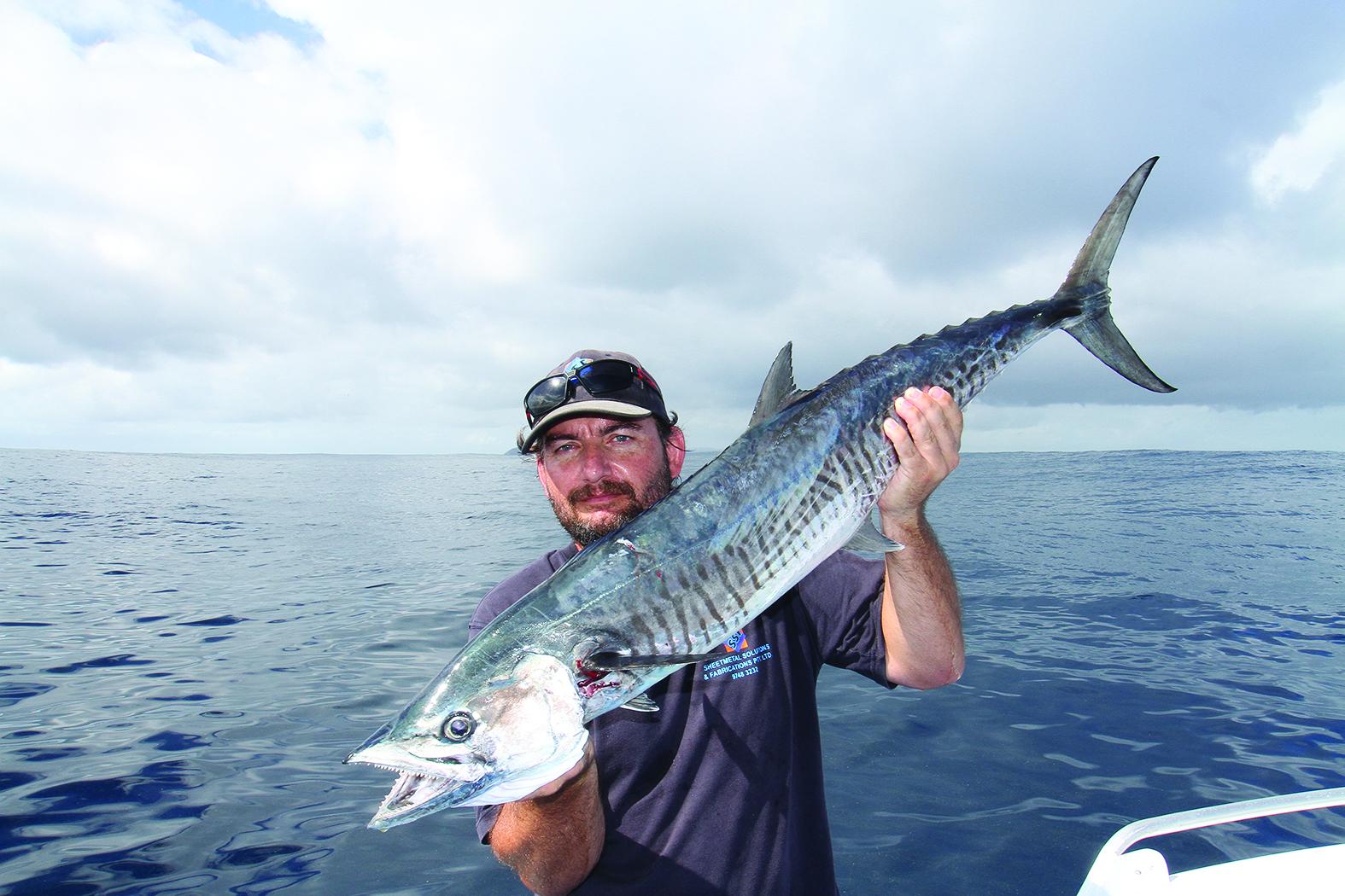 Kip Cavka's first spanish mackerel.