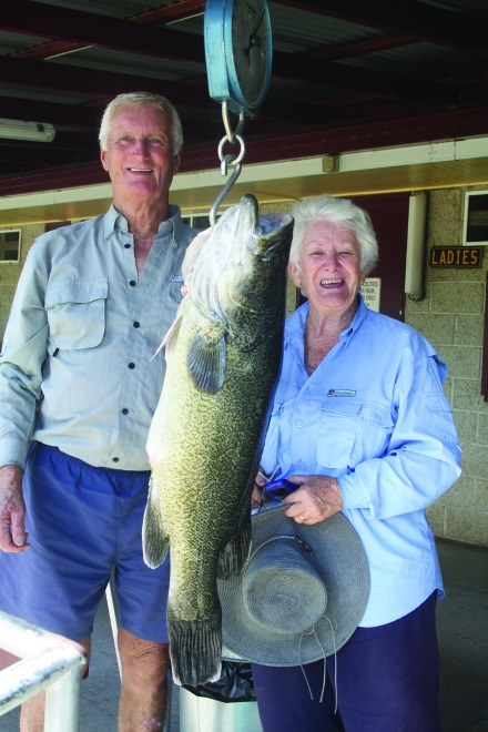 Roy and Marlene Pavey weighed in a 93cm cod caught on bait.