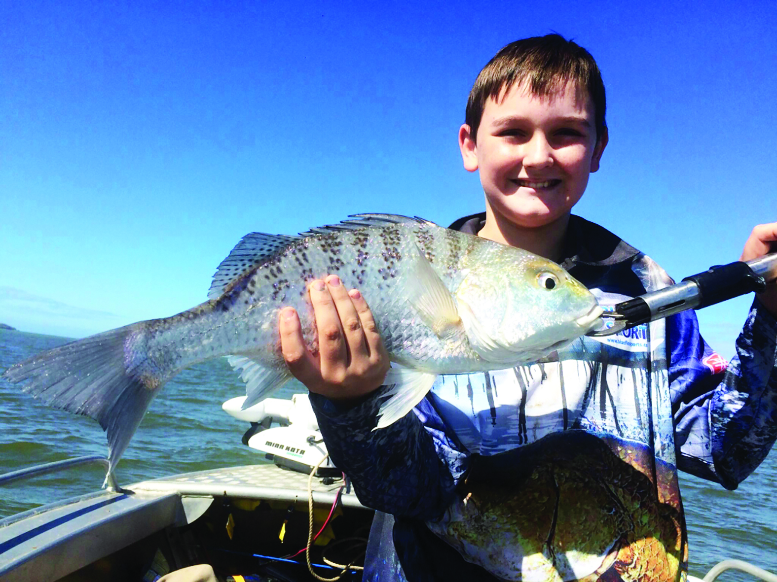 Noah Chapman with a PB grunter.