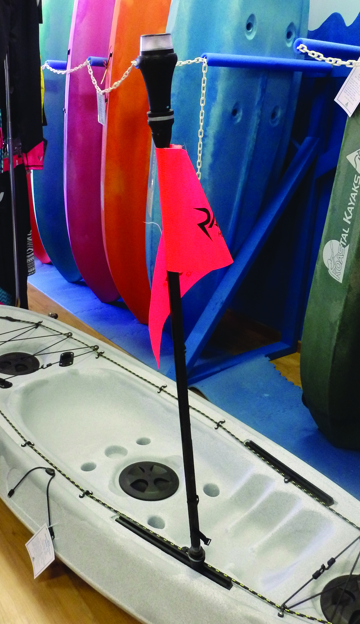 Make sure you're easily visible on the water.