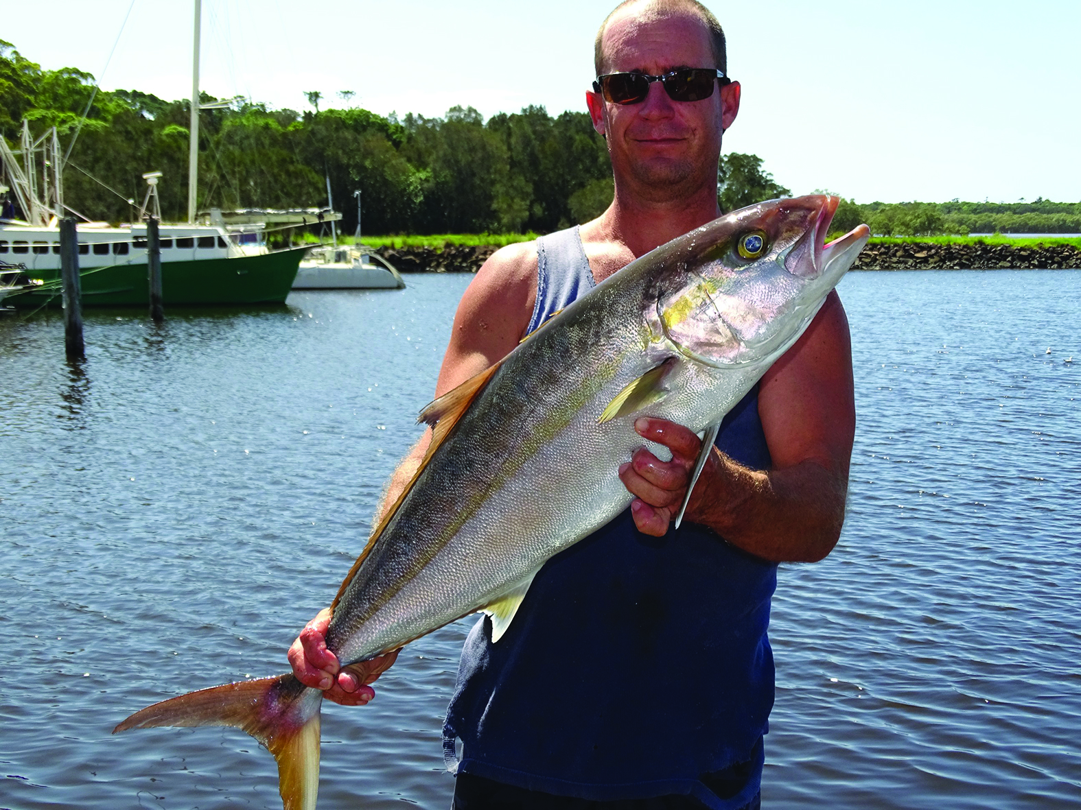 Amberjack will be caught on the deep reefs all through winter.