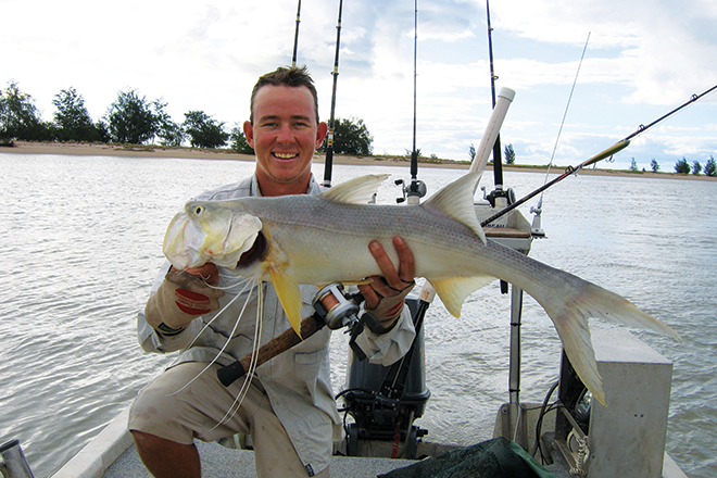 Josh Lyon with a cracker thready – one of the hardest-fighting and tastiest fish going.