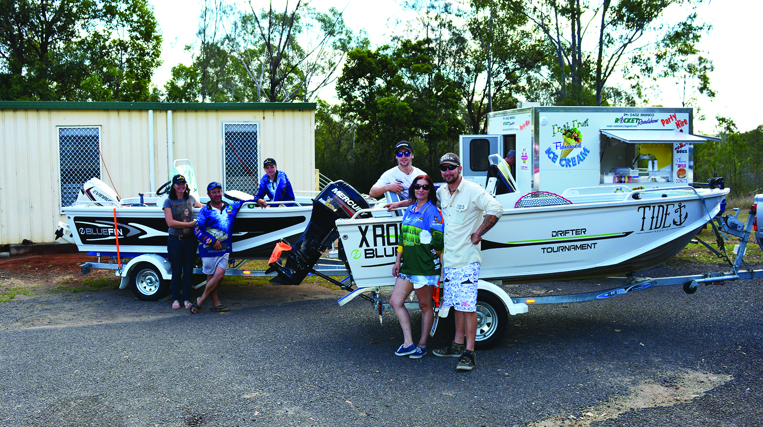 Bluefin boat pairs. Last year's major prize winners and the 2016 winners enjoyed their prize boats.