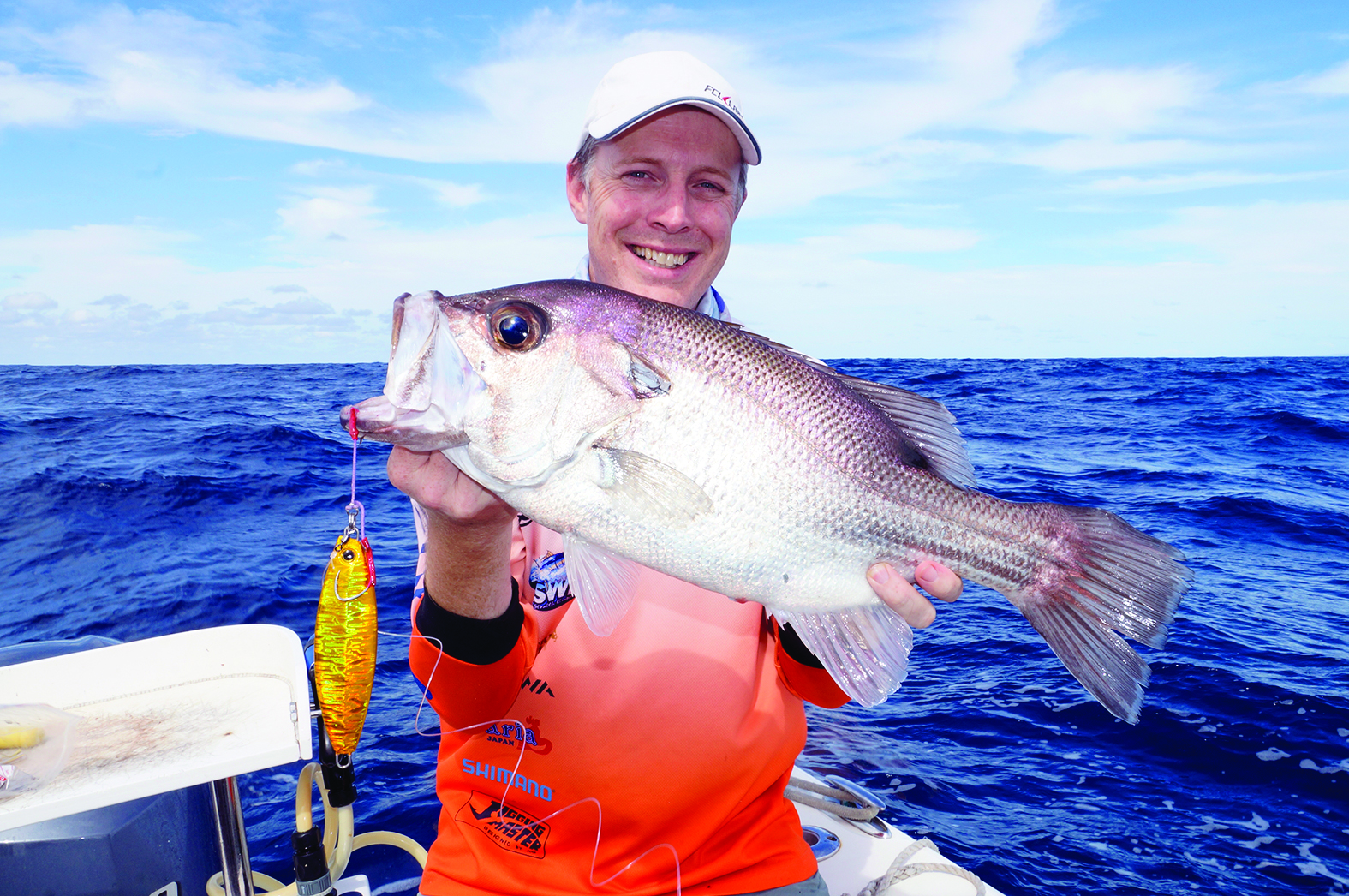 This 56cm pearl perch was Duncan O'Connell's best jig-caught pearl perch on the heavy oval-shaped jigs.