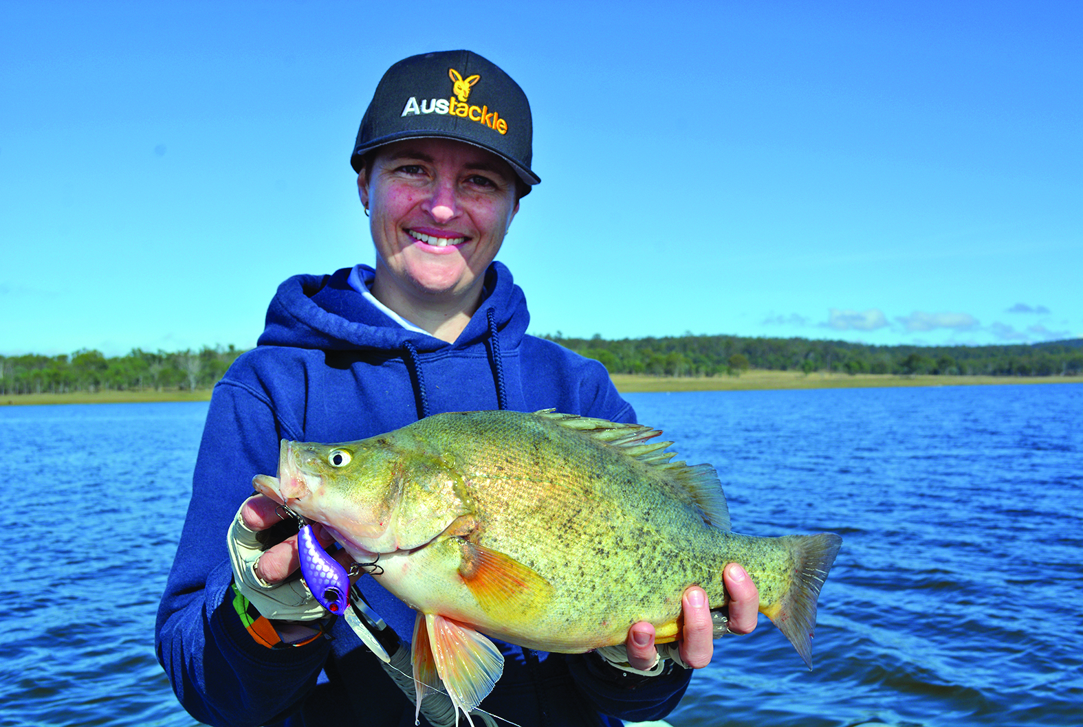 James Farraher boated the biggest bass at the grand final.