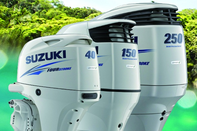 suzuki marine makes waves with black and white motors