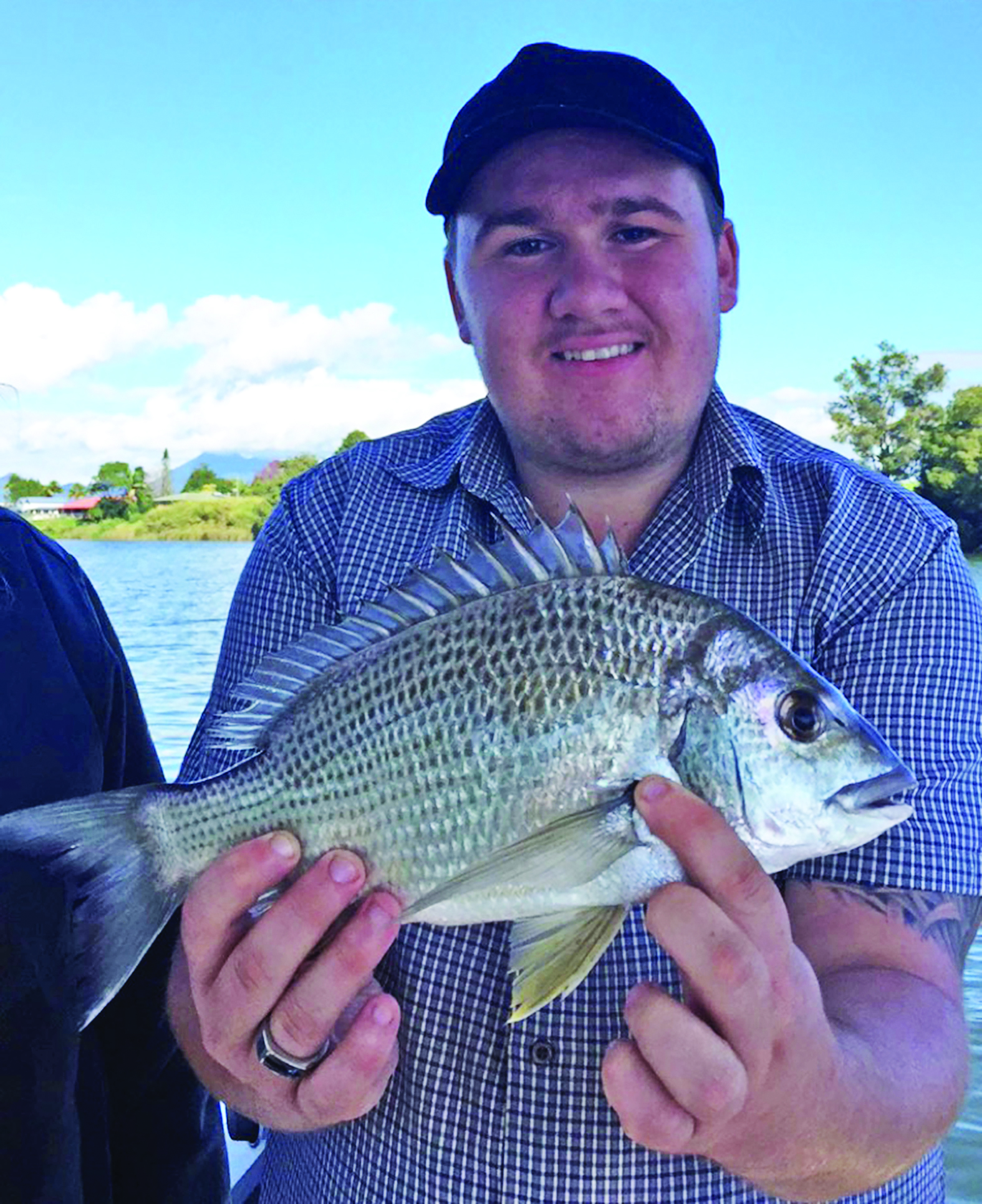 Joel Williams was thrilled to catch his first-ever bream on a blade.