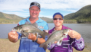 Steve and Lyndel Otto of Team Barra Jacks came second in the cash pool.