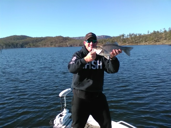 Dale Smith with the nice bass he caught at Cania Dam last weekend.
