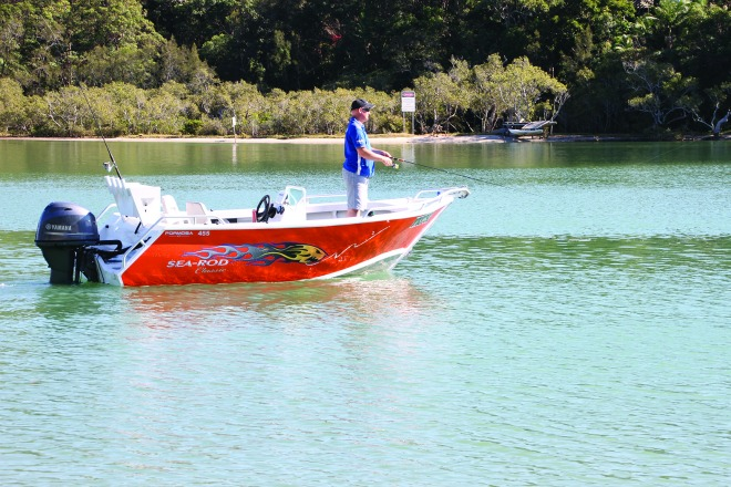 The 455 has heaps of fishing room for bait and lure junkies.