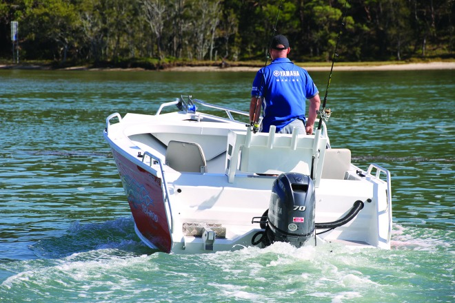 The Fastback Transom is a neat feature of the 455 model.